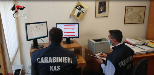 CARABINIERI NAS OSCURANO 20 SITI WEB