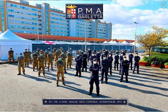 FORZE ARMATE: CONTRASTO AL COVID19 L'IMPEGNO DELLA MARINA MILITARE IN PUGLIA E BASILICATA