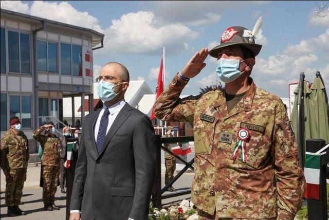 KOSOVO: MILITARI ITALIANI CELEBRANO IL 75° ANNIVERSARIO DELLA REPUBBLICA