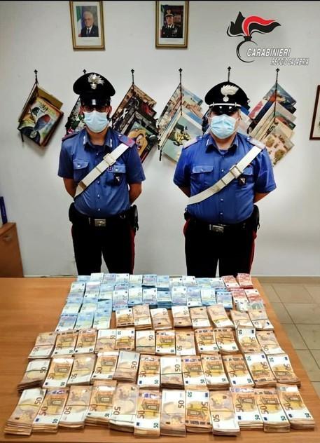 GIOIA TAURO: SEQUESTRATI 1.500.000 DI EURO. DENUNCIATE DUE PERSONE PER RICICLAGGIO DI DENARO.